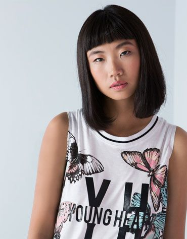 Bershka United Kingdom - Bershka butterfly print top