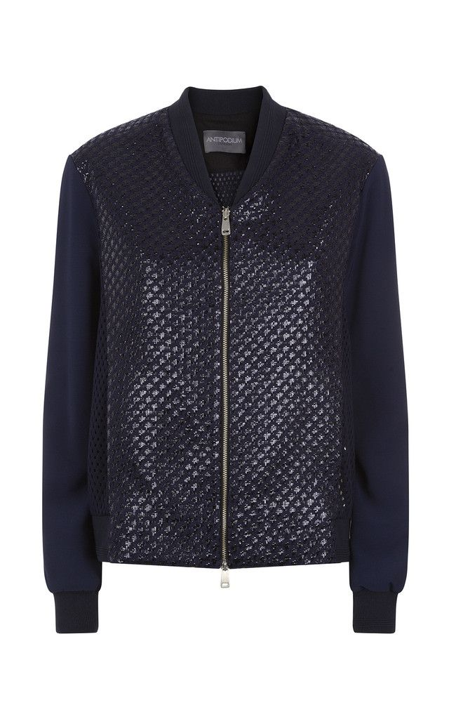 Perfect for a early summer's night, this Rafia Mesh Bomber is part of the Antipodium Spring Summer Collection 2016.