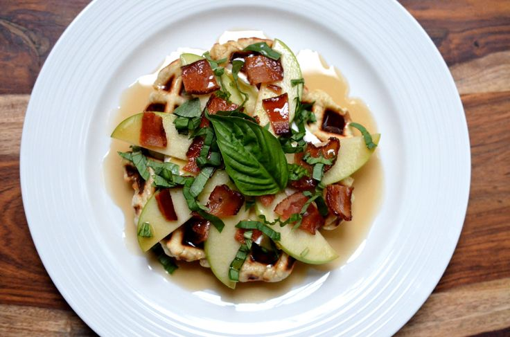 Happy International Waffle Day! Enjoy some  Apple, Bacon, Brie & Basil Waffles to celebrate brunch.
