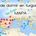 Mapa de sitios para dormir en furgoneta – España y Europa