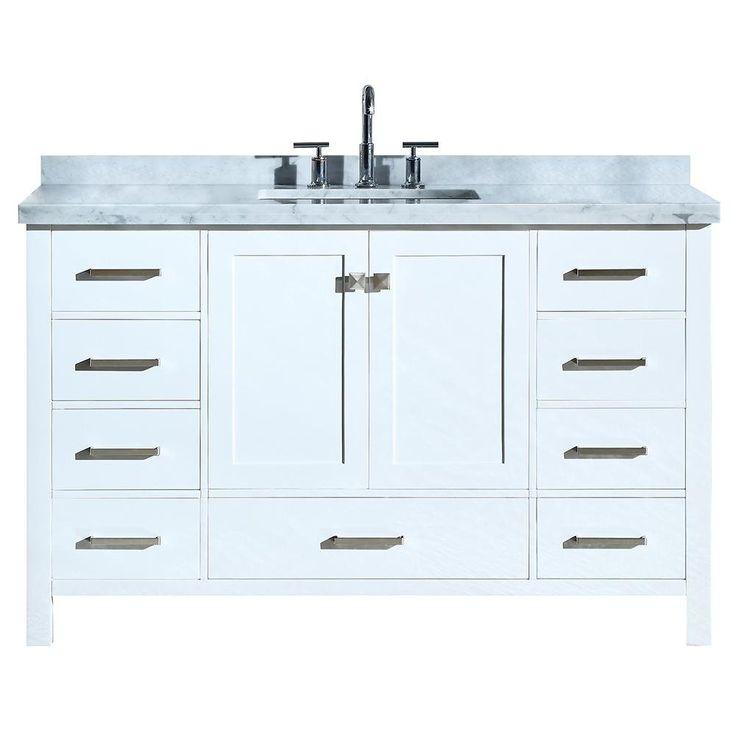 DKB Beckford Series 55 Inch Single Rectangle Sink Bathroom ...