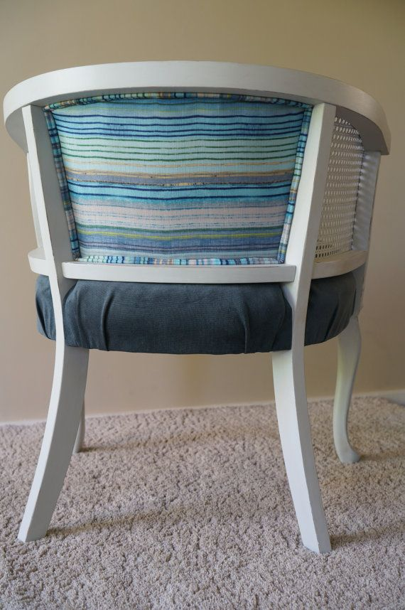 Vintage Cane Barrel Chair by ChairMyHeart on Etsy