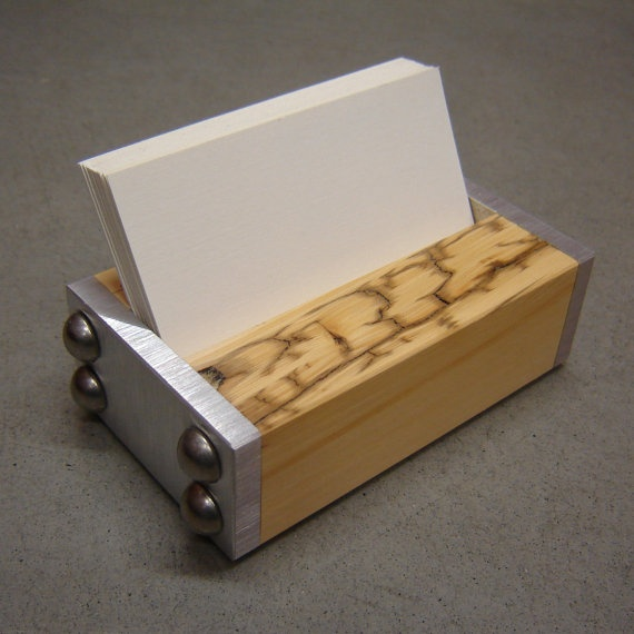 10 best project business card holder images on pinterest business card holder industrial style in wood by andrewsreclaimed 3300 colourmoves Images
