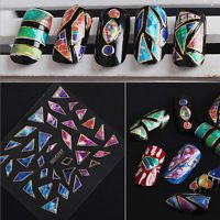 15 Sheets Fashion Nail Art Transfer Stickers 3D Design Manicure Tips Decal