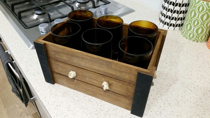 Finished crated beer glasses