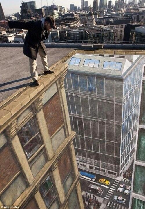 Floor art on a roof top