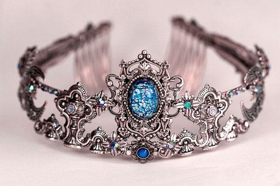 Custom Wedding Tiara, Art Nouveau Handcrafted Bridal Headpiece, Renaissance, Tudor, Medieval, Swarovski, Filigree, Design Your Own Crown