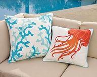ocean theme pillows