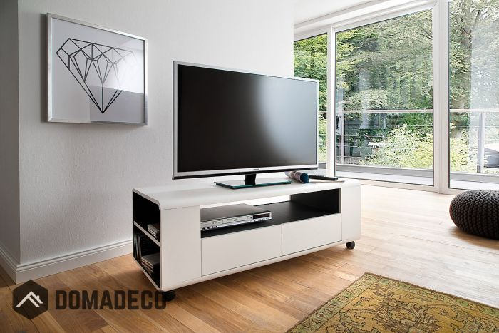Chelsea Small White Tv Stand White Tv Stands Tv Unit Modern Tv Units