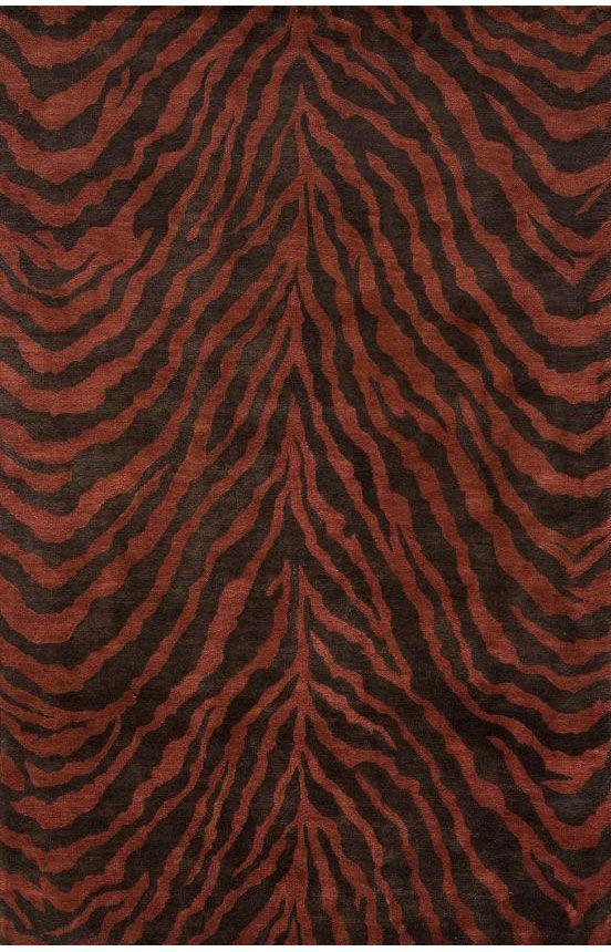 Momeni U0027Serengetiu0027 Tiger Print Area Rug In Copper