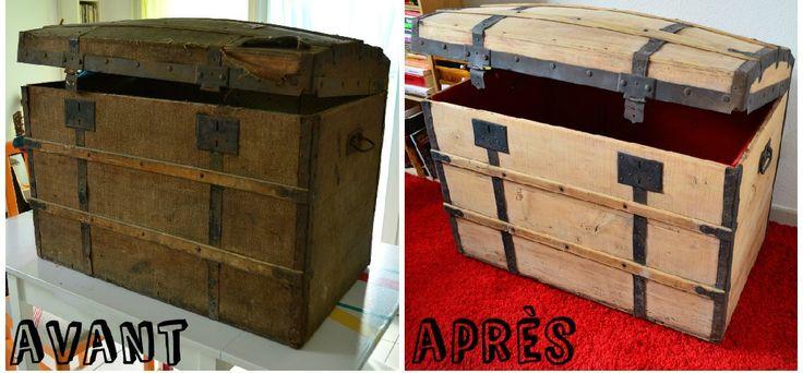 17 meilleures id es propos de malle ancienne sur pinterest valises ancien - Malle en bois ancienne ...
