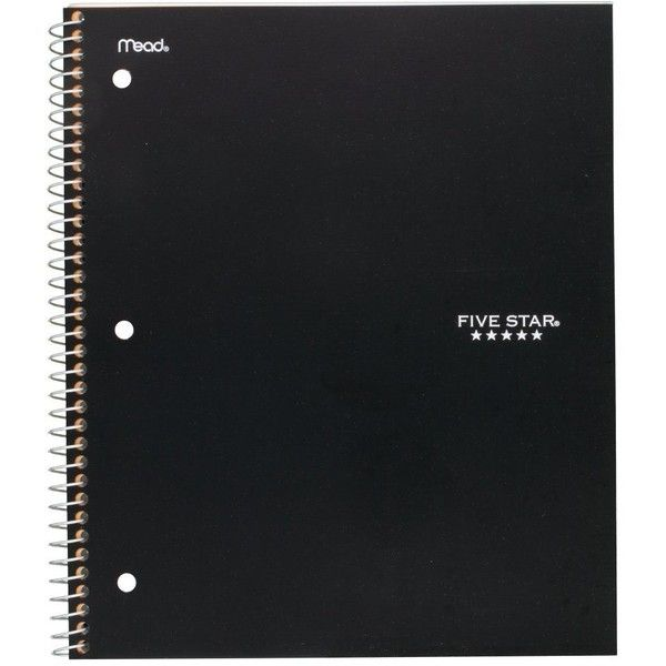 Five Star Spiral Notebook, 1 Subject, College Ruled Paper, 100 Sheets,... ($18) ❤ liked on Polyvore featuring home, home decor and stationery