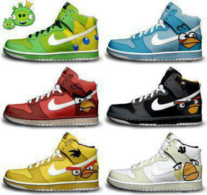 Buy Angry Birds Nikes Dunks Digital Art at Wish - Shopping Made Fun