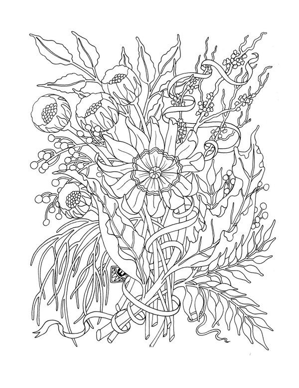 17 best Flower Coloring Pages images on Pinterest Mandalas