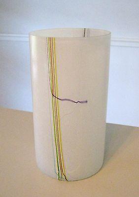 """Kosta Boda Swedish Art Glass Vase Scandinavian 9.5"""" tall Signed Bertil Vallien"""