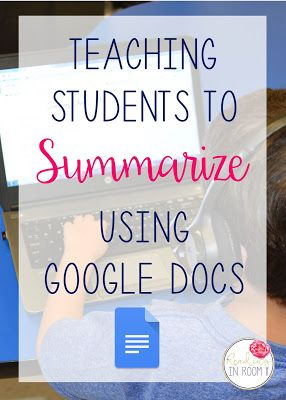 Learning to write a summary can be a tricky skill for students. It is not always easy to pick the appropriate information to include. One way I help my students write a summary is with google docs. Click here to learn more.