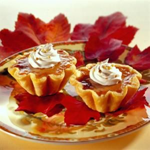 mini pumpkin tarts - perfect for an autumn cocktail party! making soon.
