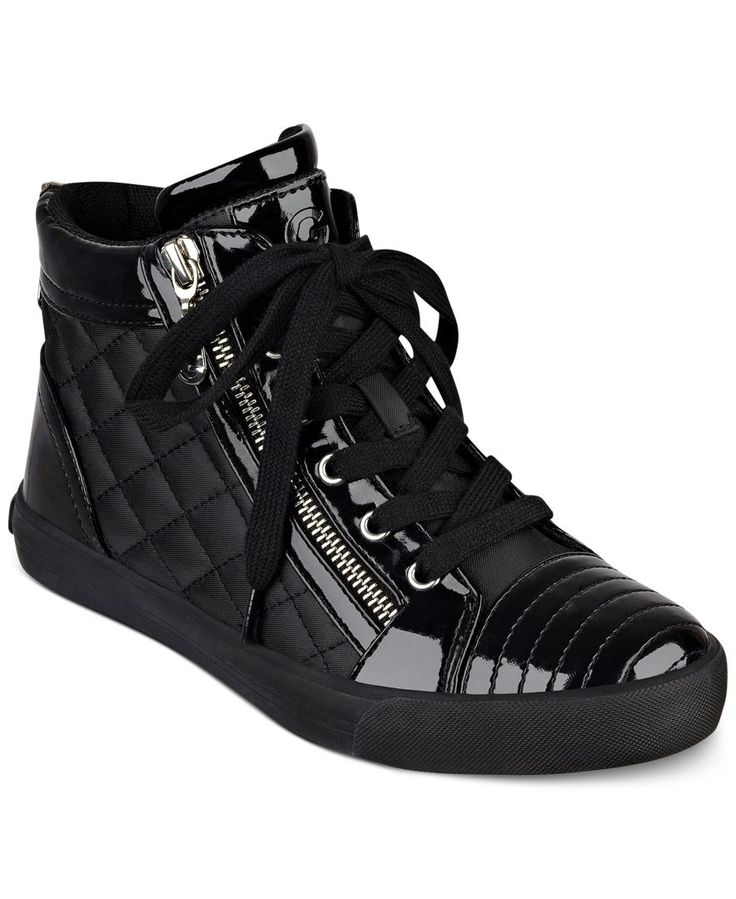 Black Quilted Tennis Shoes