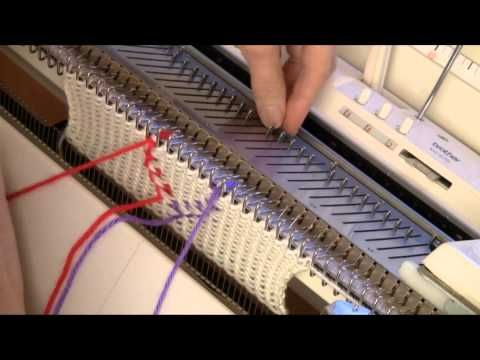 "Vertical, ""Floatless"" Fair Isle for Knitting Machine by Diana Sullivan - YouTube"