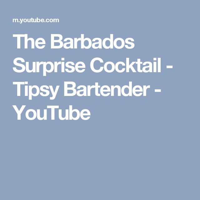 The Barbados Surprise Cocktail - Tipsy Bartender - YouTube