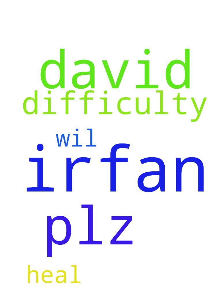 Irfan david  in difficulty  plz pray - Irfan david in difficulty plz pray for his god wil heal irfan in the name of jesus  Posted at: https://prayerrequest.com/t/vO3 #pray #prayer #request #prayerrequest