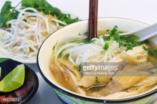 Stock Photo : Chicken rice vermicelli (noodle) soup