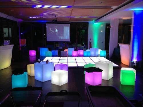 Ambientación con muebles LED