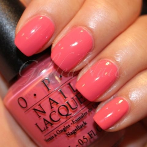 OPI Back to the Beach Peach...my favorite color! Saving the last bit of my bottle for spring break!