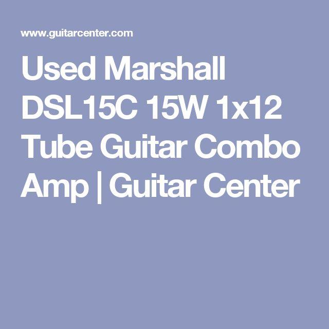 Used Marshall DSL15C 15W 1x12 Tube Guitar Combo Amp | Guitar Center