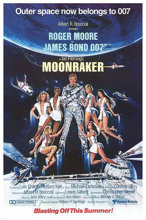 """Moonraker"" (1979)/ Director: Lewis Gilbert / Writer: Christopher Wood (screenplay) / Stars: Roger Moore, Lois Chiles, Michael Lonsdale #poster"