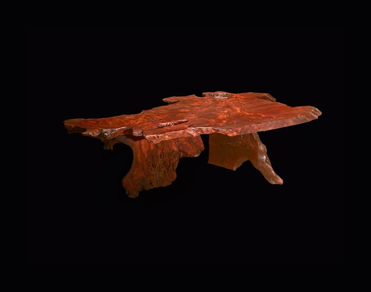 Live Edge Slab Redwood Burl Coffee Table