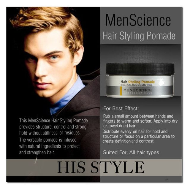 """""""Men's Hair styling Pomade layout"""" by cly88 ❤ liked on Polyvore featuring beauty, Menscience, men and groomingproducts"""