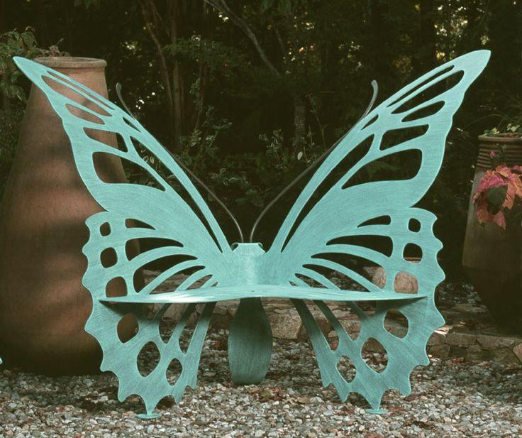 Butterfly Sculpture Garden Bench