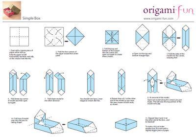 Caja origami paso a paso buscar con google dibus - Papiroflexia paso a paso ...