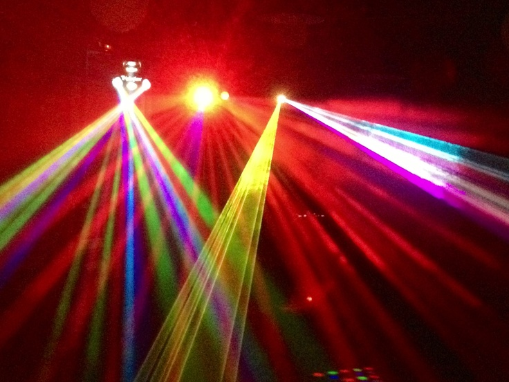 The light show provided by Smout Out Loud DJ Services