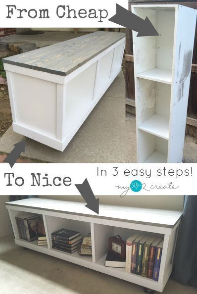 How to transform an inexpensive laminate cabinet into something beautiful http://www.hometalk.com/l/Nkj
