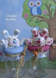 Resultado de imagen para pinterest frascos decorados en porcelana fria