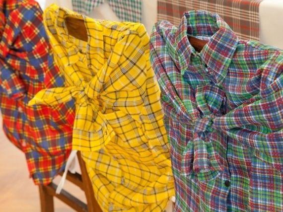 """As camisas xadrez que você tem guardadas podem """"vestir"""" as cadeiras da mesa de festa! foto reprodução: Pinterest"""