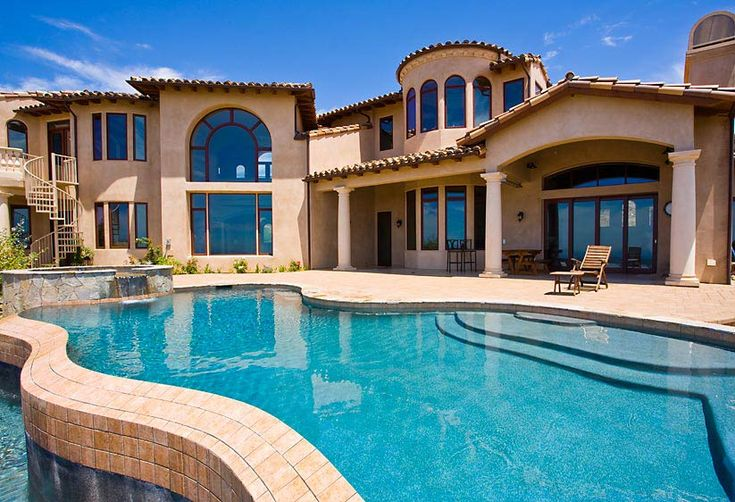 Big Beautiful Mansions With Pools big homes in california - bing images | home | pinterest