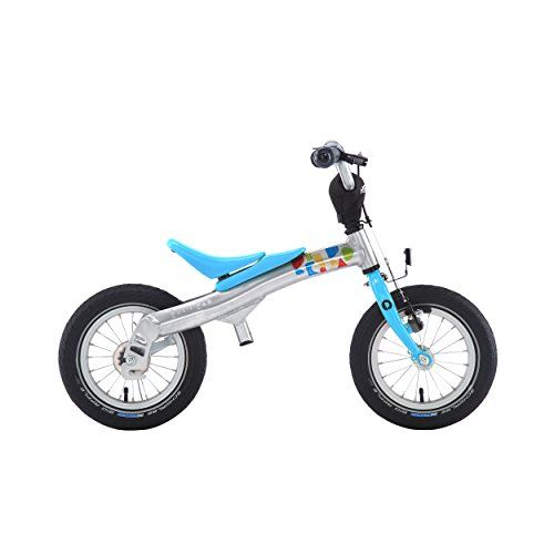 This unique product is designed for children to learn bike riding with ease. RENNRAD bikes focus on the fundamentals: balancing leaning and steering. First the simple no-pedal design ('pushbike mod...