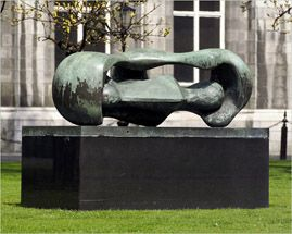 Henry Moore 'Reclining Connected Forms' (1969) bronze Trinity College, Dublin