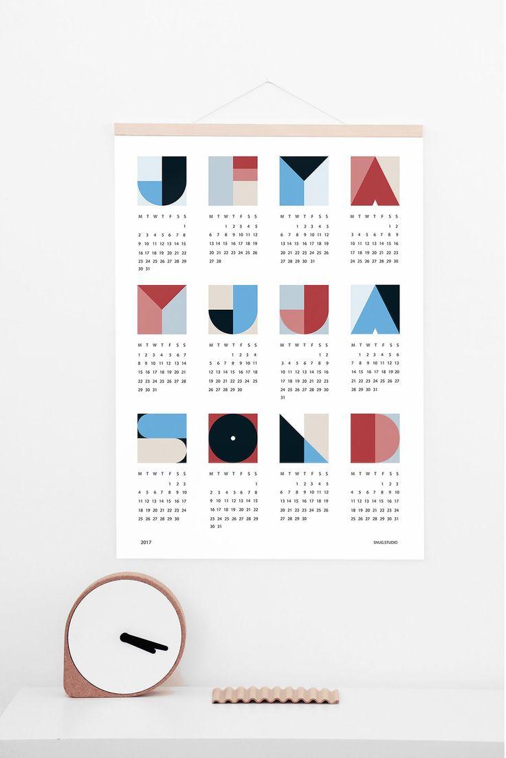 SNUG.GEO Calendar 2017 by snug.studio
