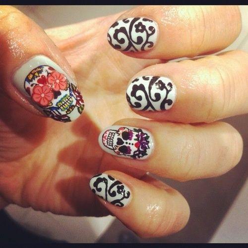 Day of the Dead Nails #beauty #nailart