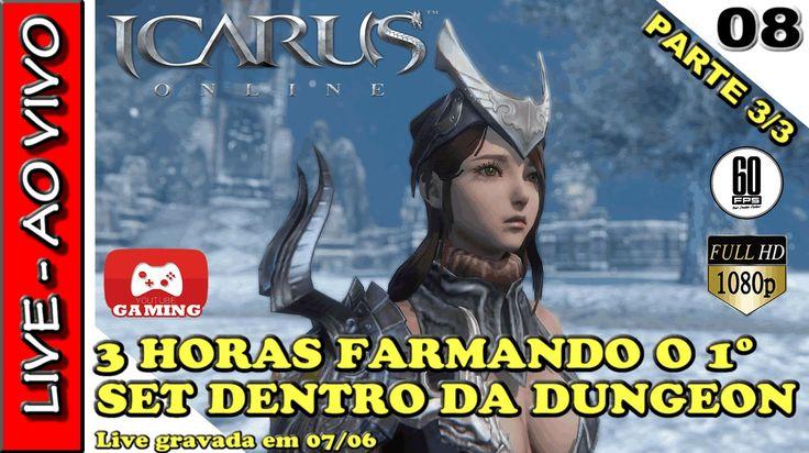 RIDERS OF ICARUS ONLINE - 3 horas de live FARMANDO SET NA DUNGEON | LIVE...