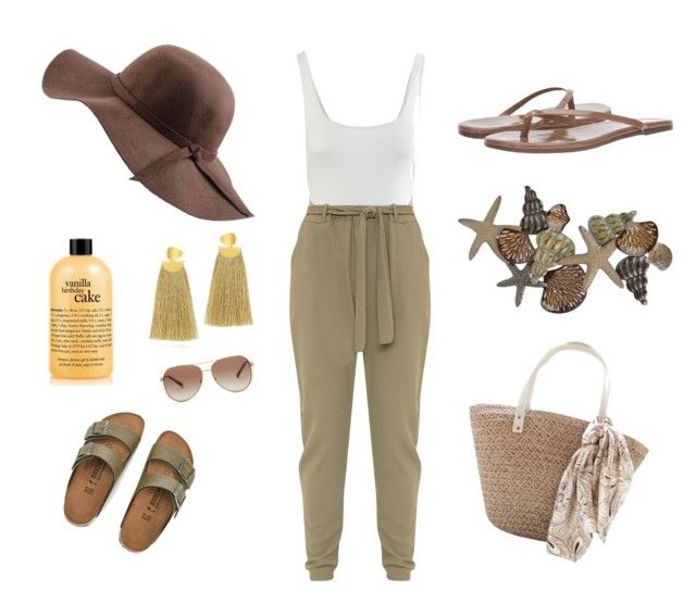 """To the beach 9#"" by ninelgm on Polyvore featuring moda, Kore Swim, Birkenstock, N'Damus, philosophy, Tkees, Michael Kors y Lizzie Fortunato"