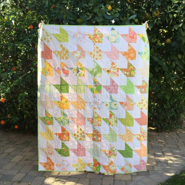 Charm pack quilt patterns like the Easiest Ever Arrow Quilt Pattern make your introduction into the world of quilting, well, easy! Whether you're a beginner or an advanced quilter, this project has step-by-step instructions that are simple to follow.