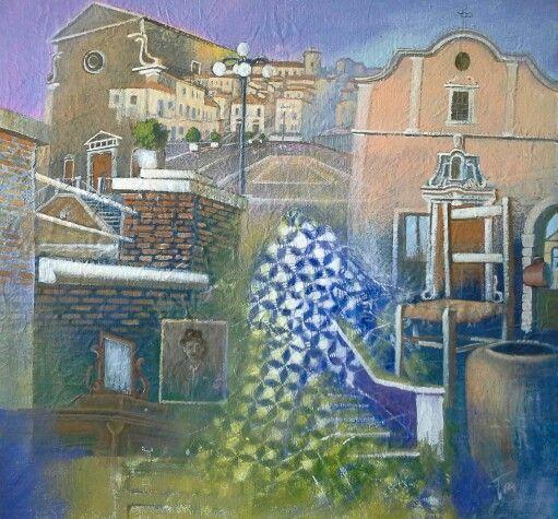 Memorie 100 x 100 cm acrilico su tela Luigi Torre painter 2016