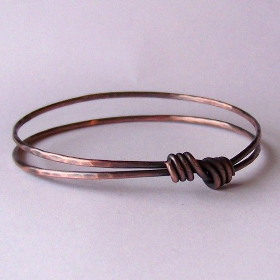 Stackable Copper Bangle  Hammered Copper Bangle by StoneDelite, $12.00