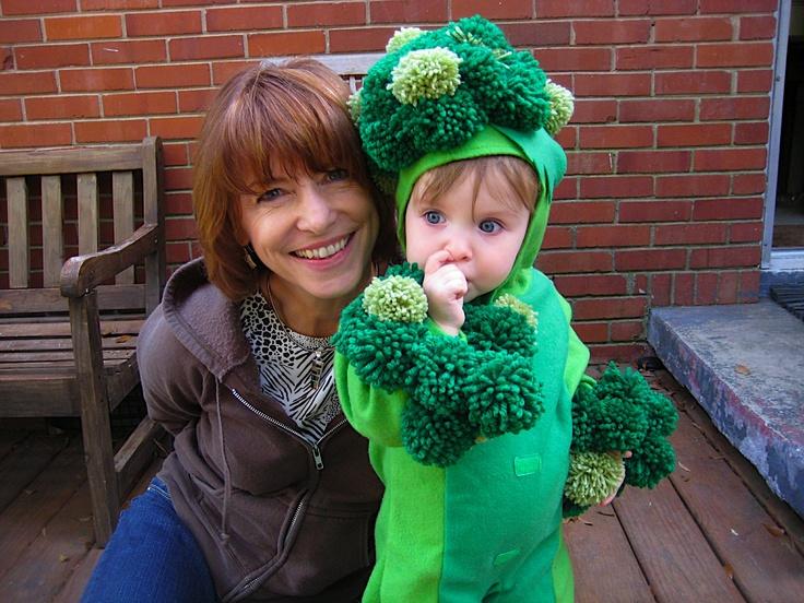 Broccoli costume (maker on the left), Halloween 2010. Bonus classy nose-picking action.