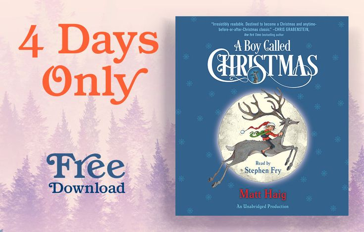 Starting at 12 PM ET on Friday November17, we're giving away a FREE audiobook download ofA Boy Called Christmasby Matt Haig. Get your download today! Thenenjoy an excerpt fromthe new companion story,The Girl Who Saved Christmas.Offer ends on Monday November 20 at 11:59 AM ET. Download the free audio below, visit us onFacebook, or download...